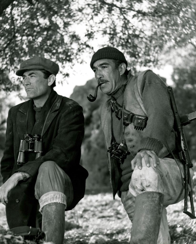 Gregory Peck & Anthony Quinn  in Guns of Navarone