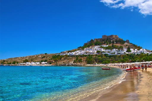 Rhodos Lindos main beach